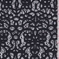*2 1/2 YD PC--Midnight Jacquard Medallion Lace