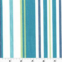 *1 1/2 YD PC--Turquoise/White/Multi Stripe Canvas Home Decorating Fabric