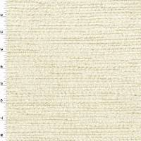 *1 YD PC--Cream Ivory/Beige Chenille Texture Stripe Decorating Fabric