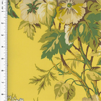 *3/4 YD PC--Designer Cotton Yellow/Green Floral Print  Decorating Fabric