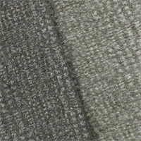 *1 1/2 YD PC--Warm Grey Plaid Single-sided Sweatshirt Fleece