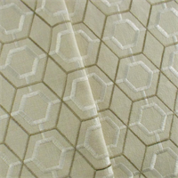 *2 1/2 YD PC--Ivory/Taupe Lattice Embroidered Home Decorating Fabric