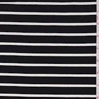 *2 5/8 YD PC--Black/White Stripe Rib Knit