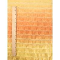 *1/2 YD PC--Orange/Yellow Ombre Ruffle Knit