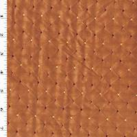 Copper Orange Diamond Dot Taffeta Home Decorating Fabric
