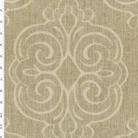 *5 1/4 YD PC--Beige Medallion Jacquard Home Decorating Fabric