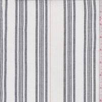 White/Slate Stripe Cotton Gauze