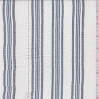 White/Navy Stripe Cotton Gauze