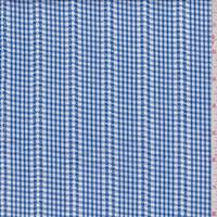 Blue Gingham Check Cotton Shirting