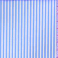 *2 3/8 YD PC--Sky Blue/White Stripe Cotton Shirting