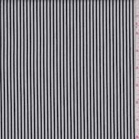 *3 3/8 YD PC--Black/White Stripe Suiting