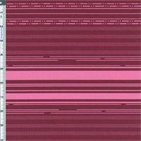 *1 5/8 YD PC--Cabernet/Pink Stripe Cotton Twill Decorating Fabric