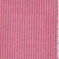 *2 7/8 YD PC--Red Stripe Oxford Shirting