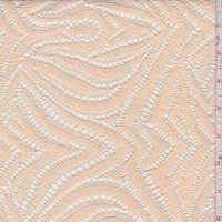 *2 5/8 YD PC--Peach Lotus Lace