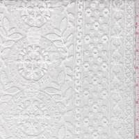 *2 YD PC--Soft White Embroidered Organza