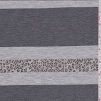 *2 3/8 YD PC--Heather Grey Stripe French Terry Knit