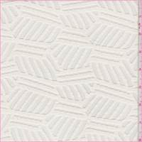 *2 3/4 YD PC--White Geometric Stretch Mesh