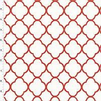 *2 YD PC--Red/White Quatrefoil Matelasse Home Decorating Fabric