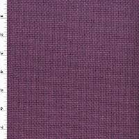 *5 YD PC--Sangria Purple Grid Basketweave Home Decorating Fabric