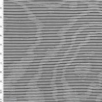 *3 1/2 YD PC--Black/White Stripe Jersey Knit