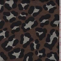 *2 1/8 YD PC--Carob Brown Cheetah Sweater Knit