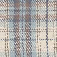 *3 3/4 YD PC--Ivory/Blue Plaid Suiting
