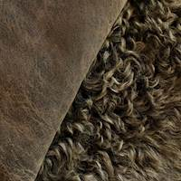 Black/Brown/Gray Curly Fur Hide
