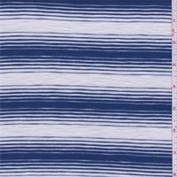 *3 1/8 YD PC--Cadet Blue/Pearl Slubbed T-Shirt Knit