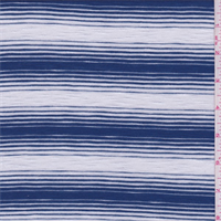 *2 YD PC--Cadet Blue/Pearl Slubbed T-Shirt Knit