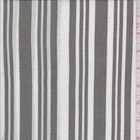 *3 YD PC--Olive/White Stripe Pebble Crepe