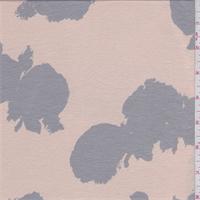 *2 YD PC--Peach/Grey Splatter Print Rayon Jersey Knit