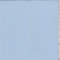 *2 YD PC--Light Blue/White Stripe Nylon Shirting