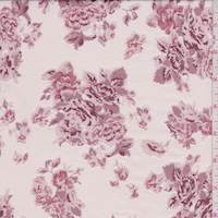 *3 YD PC--Champagne Pink Floral Tissue Crepe