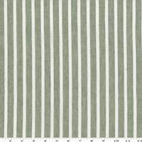 *2 1/4 YD PC--Dusty Olive/White Linen/Cotton Stripe Voile