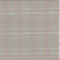 *3 1/4 YD PC--Olive Multi Plaid Suiting