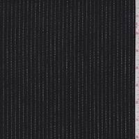 *1 5/8 YD PC--Black & White Stripe Double Knit