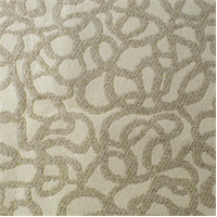 *1 1/2 YD PC--Dicey Ivory/Beige Squiggle Boucle Home Decorating Fabric