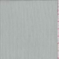 *1 YD PC--White/Pine Stripe Cotton Shirting