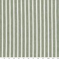 *2 YD PC--Dusty Olive/White Linen/Cotton Stripe Voile