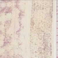 *2 3/8 YD PC--Peach Beige Mottled Stripe Silk Chiffon