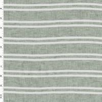 *1 YD PC--Gray/White Stripe Linen/Cotton