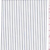 *2 5/8 YD PC--White/Nickel/Navy Stripe Cotton Shirting