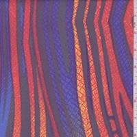 *2 1/4 YD PC--Orange/Cobalt Deco Stripe Swimwear
