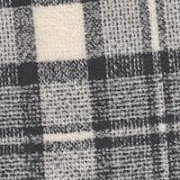 *4 YD PC--Cream/Black Plaid Wool Coating