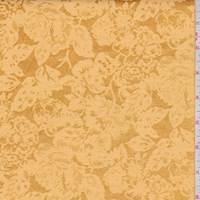 Deep Gold Floral Satin Jacquard