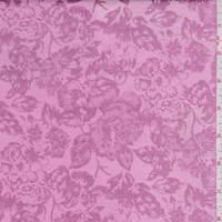 Deep Pink Floral Satin Jacquard