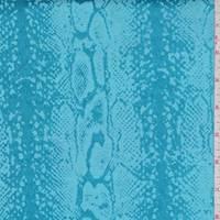 Turquoise Snakeskin Satin Jacquard