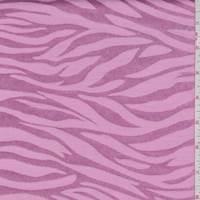 Deep Pink Zebra Stripe Satin Jacquard