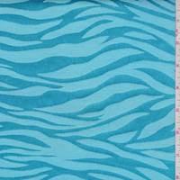 Turquoise Zebra Stripe Satin Jacquard