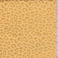 Deep Gold Mini Cheetah Satin Jacquard